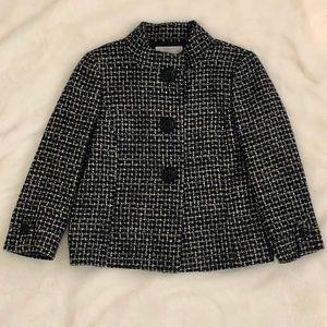 Tahari ASL Beautiful black and white Tweed Jacket